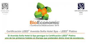 I Conferencia BioEconomic - Certificación LEED® Avenida Sofía Hotel Spa – LEED® Platino @ Avenida Sofia Hotel Spa | Sitges | Cataluña | España