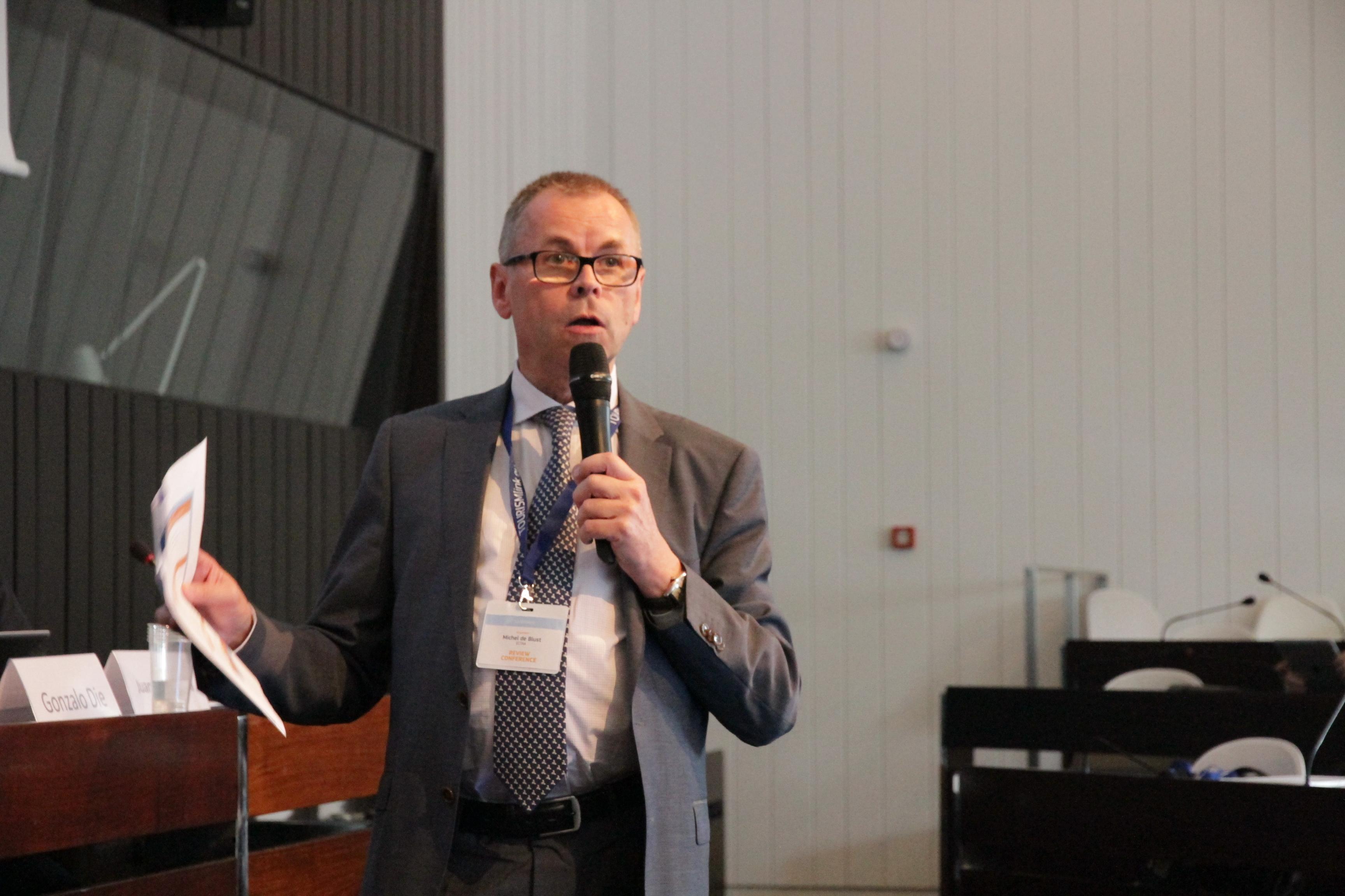 Michel de Blust, de ECTAA, durante su intervención en el Congreso.