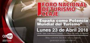 Primer Foro Nacional de Turismo CEAJE @ Sala José María Cuevas   Madrid   Comunidad de Madrid   España